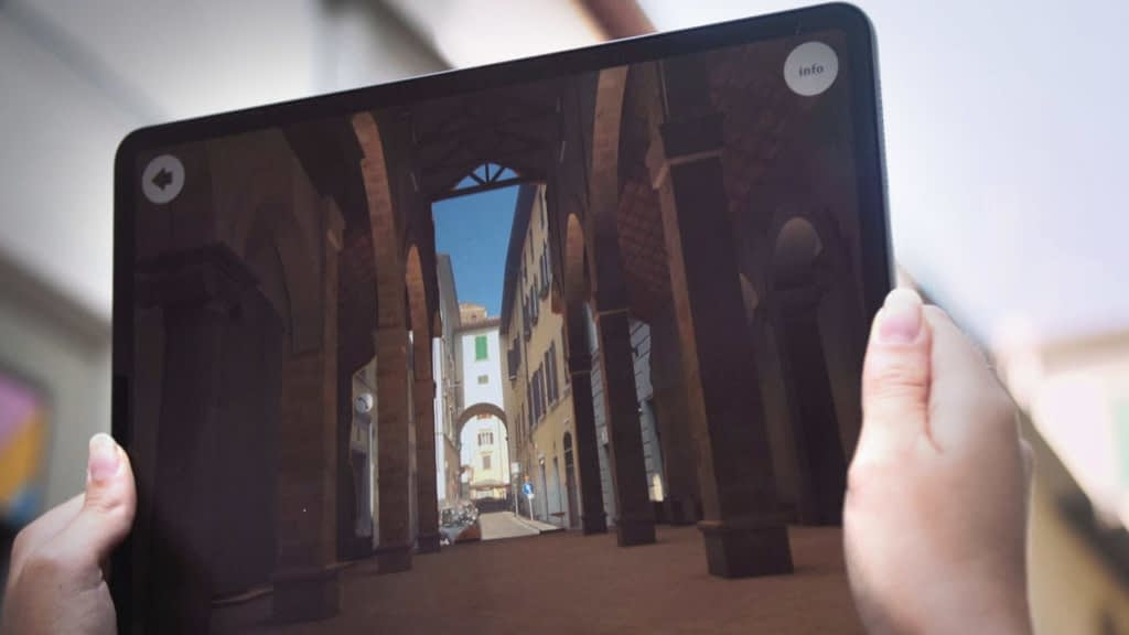 Zubr 3D historical building augmented reality app Florence