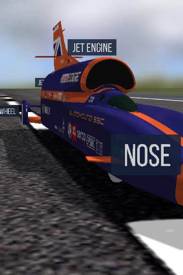 Zubr Bloodhound SSC 3D Oracle realtime Data visualisation