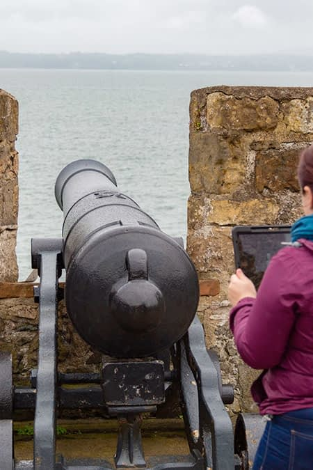 Augmented reality for historical sites fire the cannon app