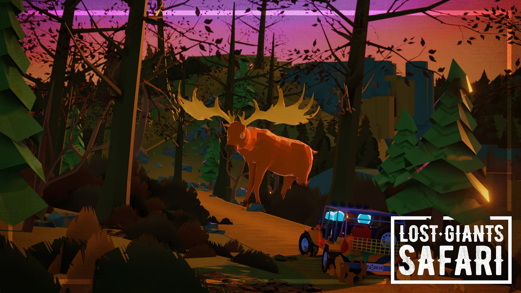 Zubr virtual reality Jeep adventure with giant cartoon animals