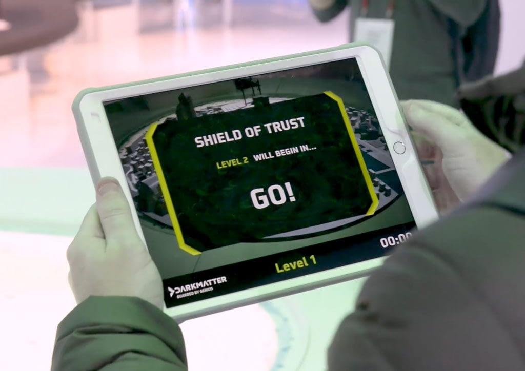 AR cyber security challenge app on iPad