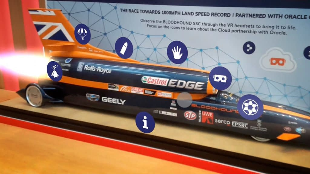 Zubr augmented reality object tracking on Bloodhound SSC