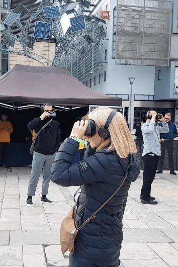 Zubr shared space 5G virtual reality experience public showcase