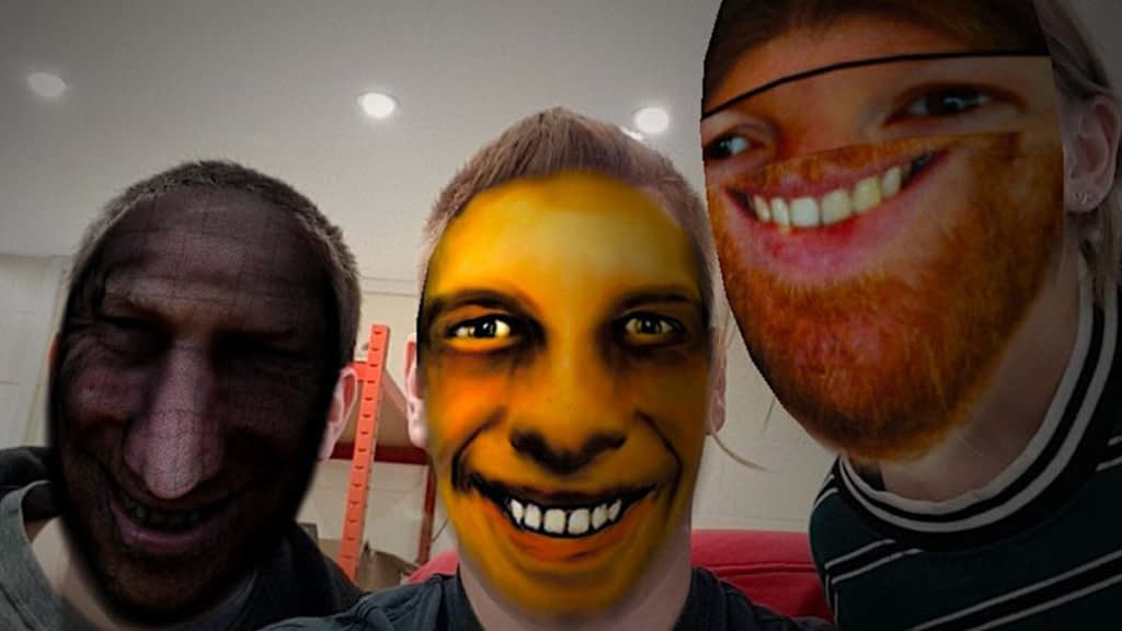 Aphex Twin Weirdcore faces augmented reality social media filter