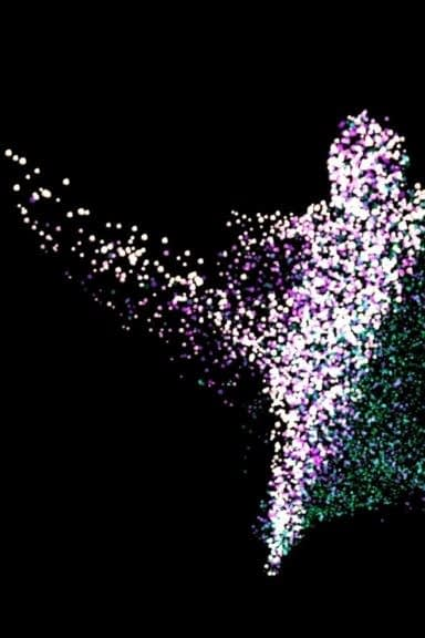 Zubr volumetric video 4D hologram 3D scan capture of a dancer rendered as particle cloud