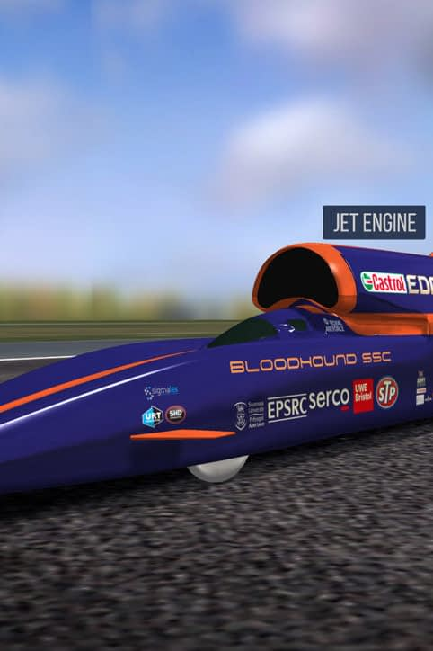 Bloodhound SSC 3D model live data experience