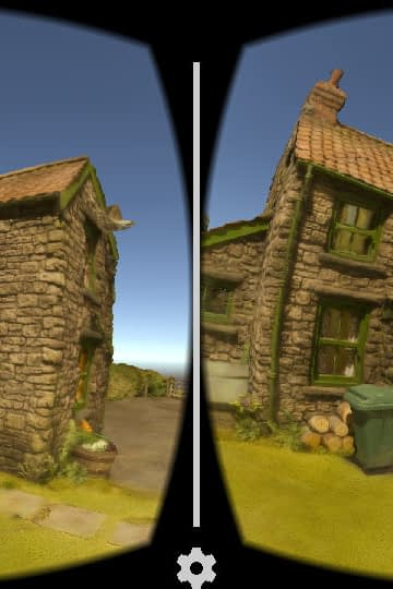 Zubr 3D scanned photogrammetry Aardman Animations Shaun the Sheep model set in virtual reality on Google Cardboard