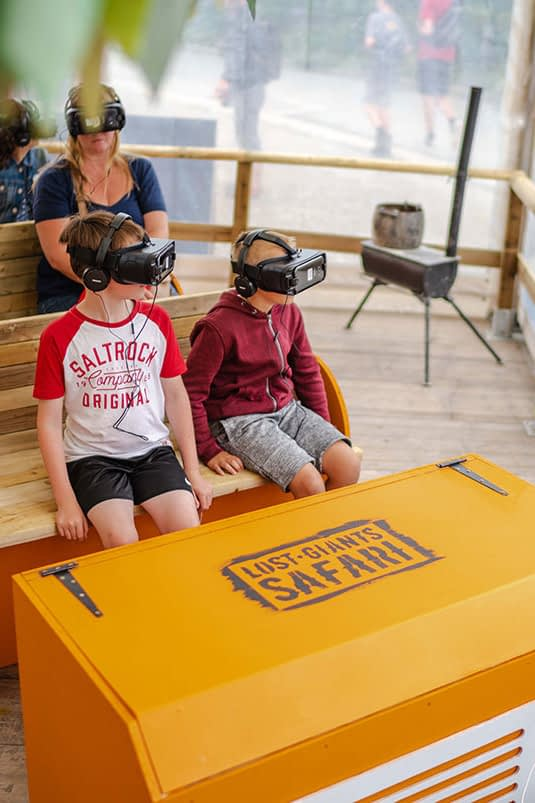 Zubr virtual reality experience at the Eden Project for kids