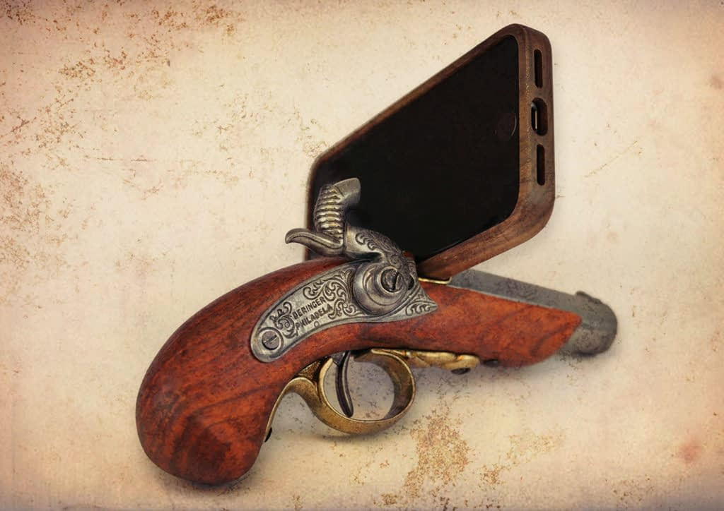 Zubr custom augmented reality pirate pistol game