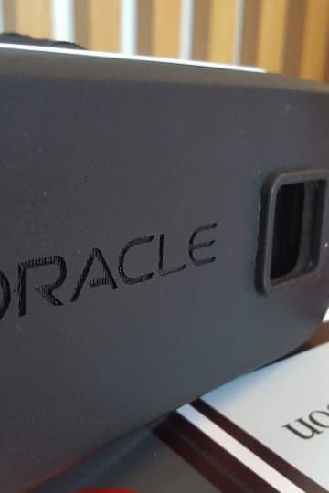 Zubr Augmented Virtual reality 3D printed headset for Oracle Corporation