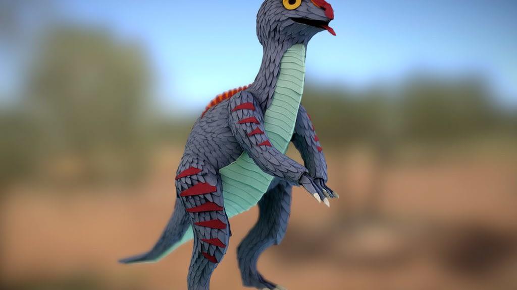 Paper dinosaur macro 3D scan photogrammetry